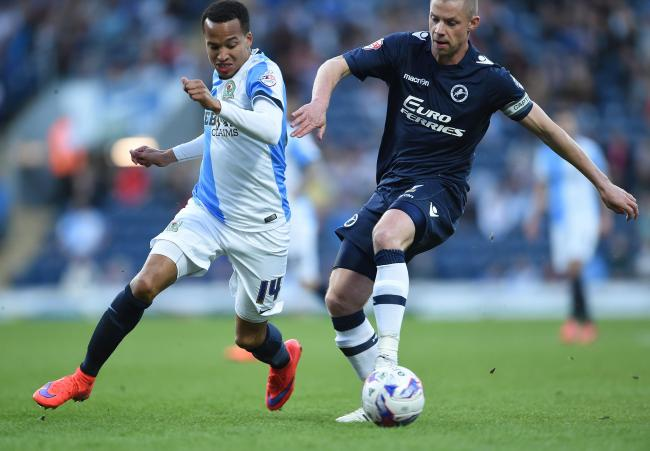 Markus Olsson in action for Rovers against Millwall