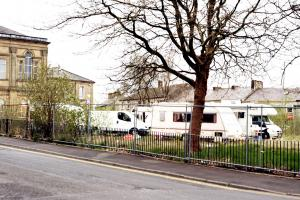 Travellers ordered to move from popular Baxenden park pitch up in Oswaldtwistle...