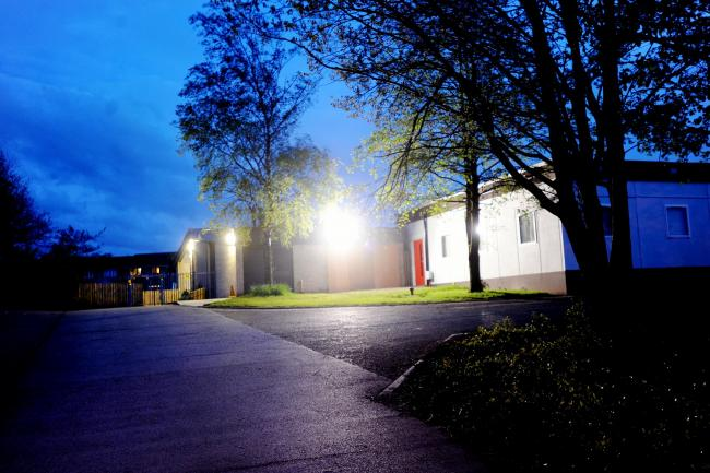 BRIGHT: Residents have complained that the security lights at Reedley Primary school are on 24 hours a day