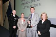 PRIDE: From the left, Chief Constable Steve Finnigan, Karen Kenworthy, Damian McAlister and Angela Harrison