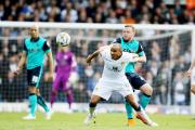 Rudy Austin in action for Leeds against Rovers last season before his sending off