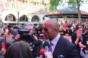 Dwayne 'The Rock' Johnson talks to Vibe at the World Premiere of San Andreas in London