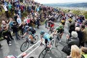 CROWD PULLER: Cycling has become popular with the Tour de France racing through Yorkshire last year and the success of Bradley Wiggins