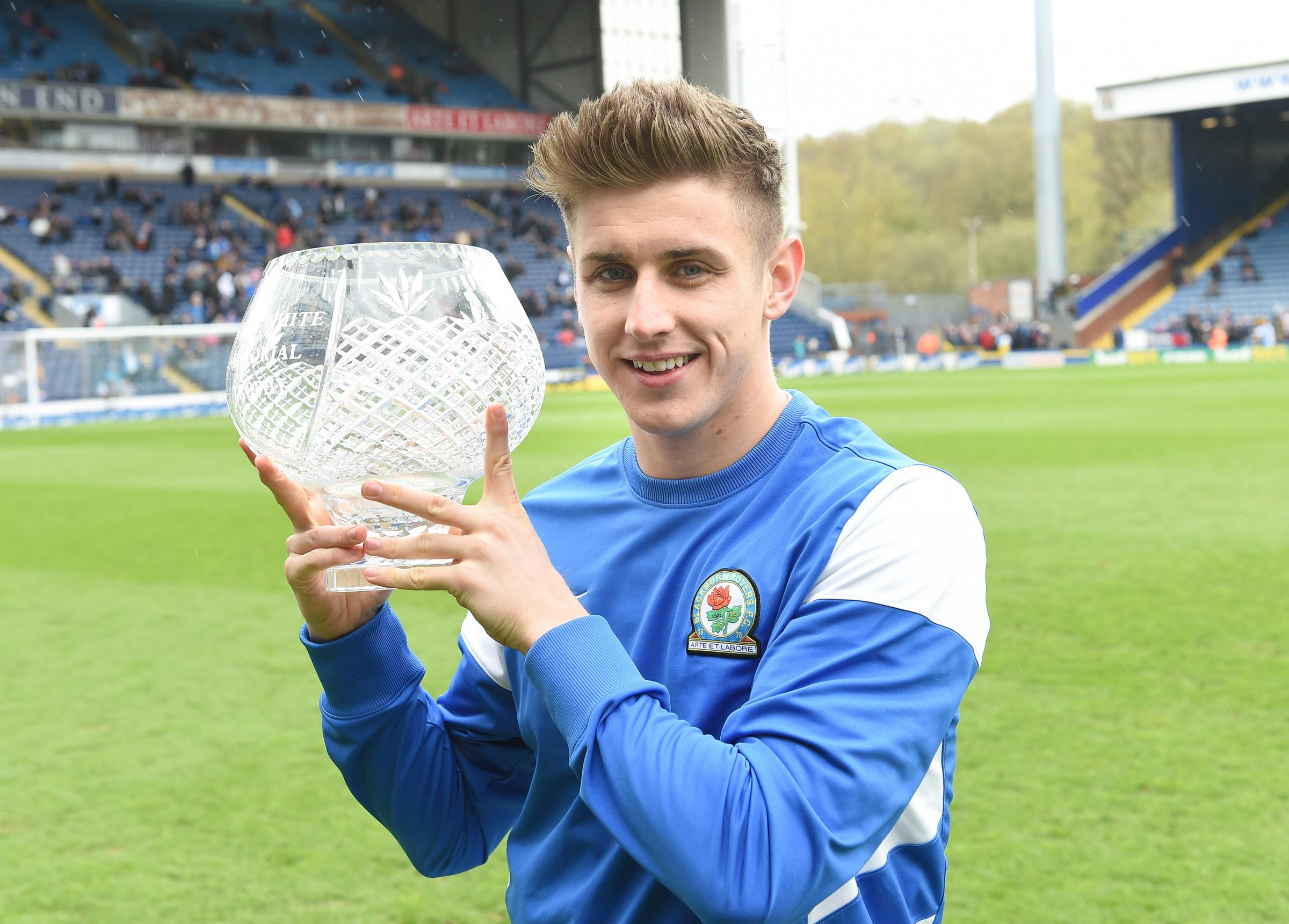 Tom Cairney with his goal of the season prize