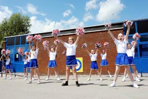 Burnley cheerleading troupe take gold at Manchester Velodrome