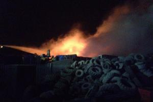 UPDATE: 5,000 tyre fire sends flames and smoke towering into sky above East Lancashire