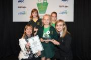 WARRIOR: Lucy Stansfield receives her Eco Supporter award in the Young Green Heroes Awards