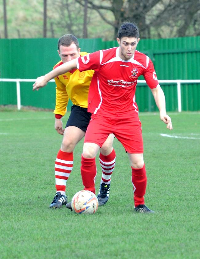 BRACE: Spencer Jordan (pictured) was on the scoresheet twice for Colne