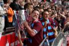 EXPERIENCE: Kevin Nolan celebrates winning promotion back to the Premier League with West Ham United