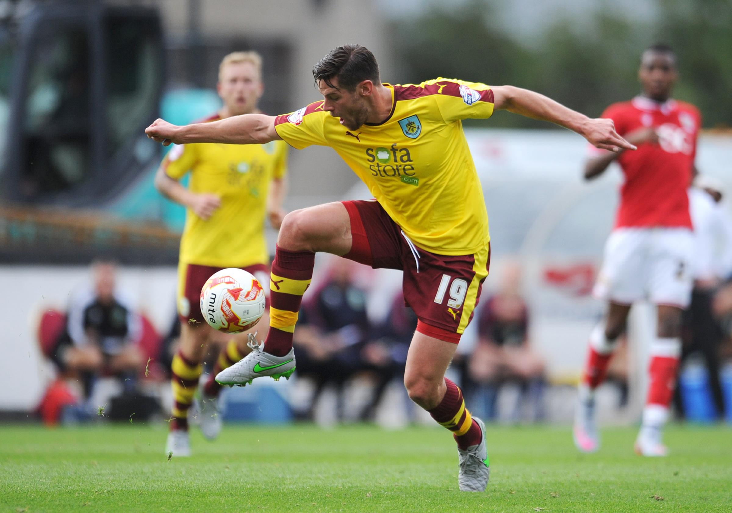 INJURY BLOW: Burnley's Lukas Jutkiewicz in action during the victory over Bristol City on Saturday