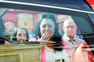 Emotional scenes at funeral of landlord as hundreds turn out to pay respects