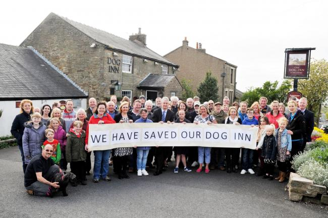 HUGE EFFORT: A flashback to when the Belthorn villagers won their campaign to restore their pub earlier this year