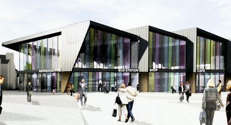 An artist's impression of the planned bus station which has now been revised