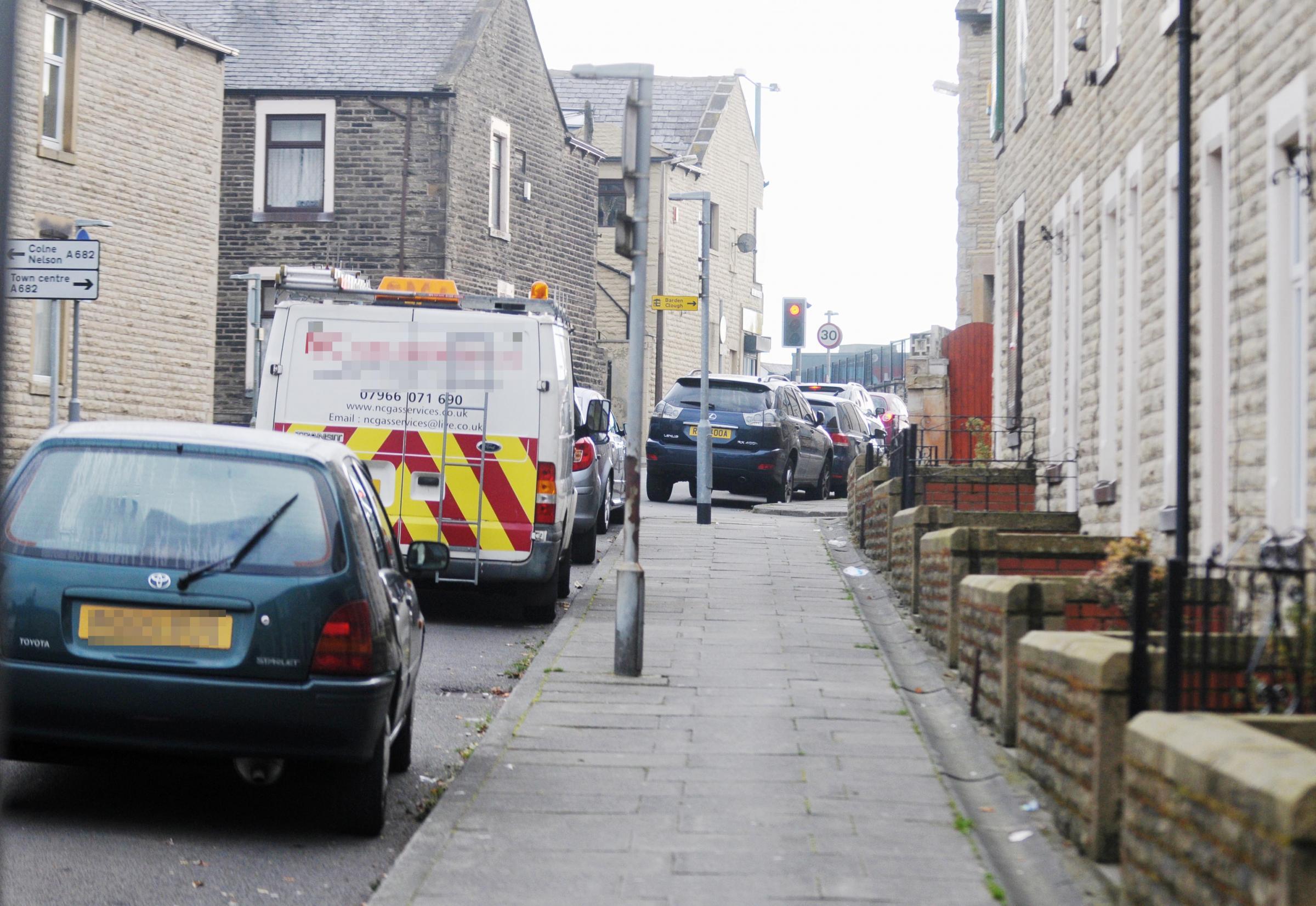 SCENE: Newman Street, Burnley, where the dog attack happened