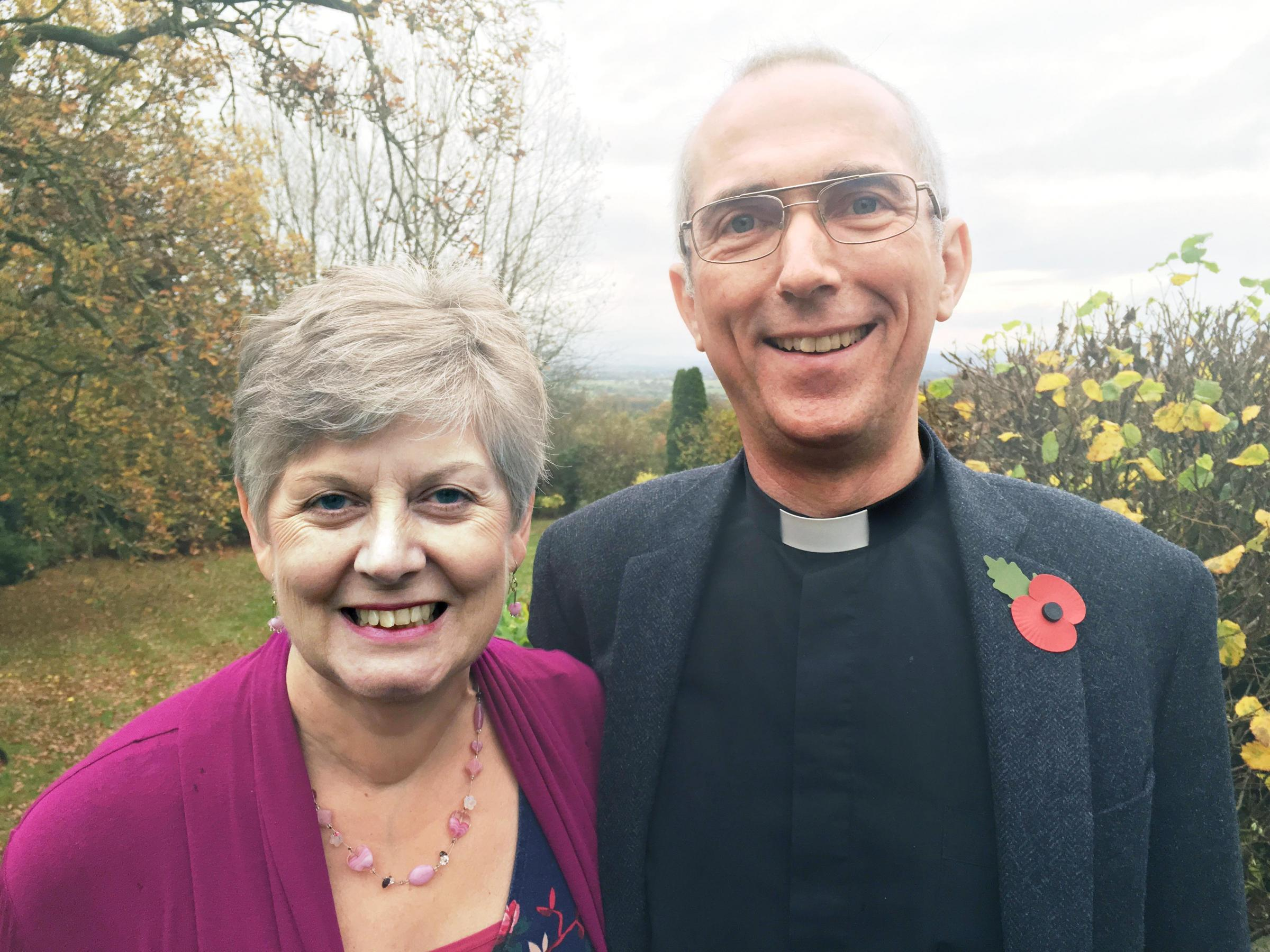 RETURN: The Rev Mark Ireland met his wife Gill in Blackburn. He has been announced as the new Archdeacon of Blackburn