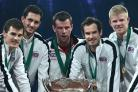 Andy Murray (second from right) starred in Great Britain's Davis Cup triumph over the weekend