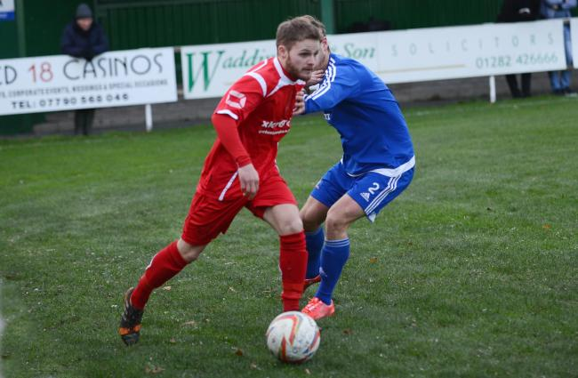 FIXTURE BACKLOG: Danny Boyle in FA Vase action against Newton Aycliffe during November