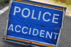 Driver and passengers escape as car overturns