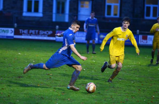 STRIKES: Waqas Azam scored twice for Nelson in their 4-4 draw at Padiham on Saturday