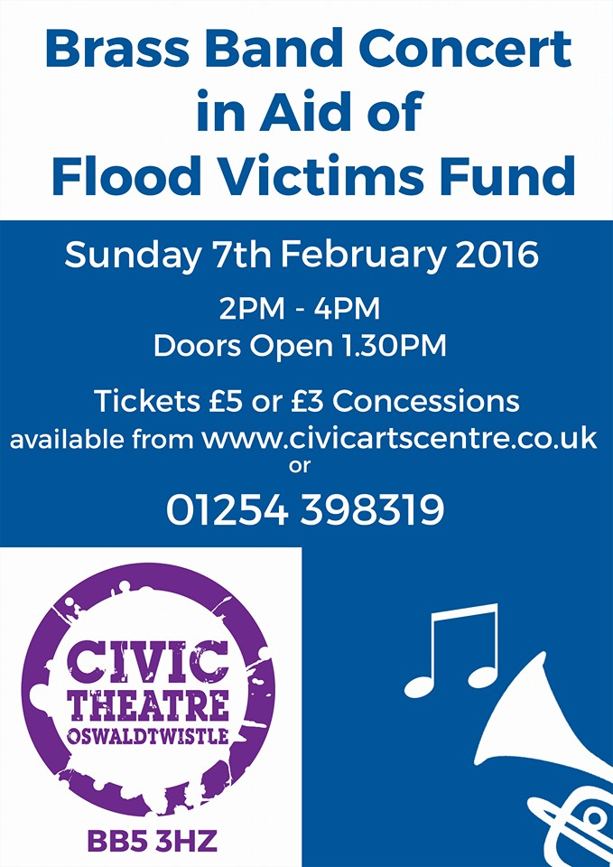 Brass Band Concert in support of UK flood victims