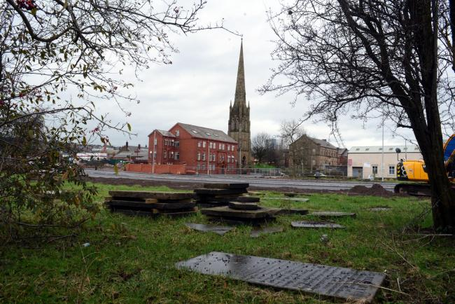 TREASURE: The former burial ground in Blackburn