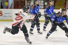 TEMPO: Lee Pollitt gets a shot away during the Hawks 13-2 win over Sheffield Spartans last weekend