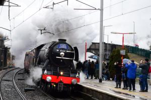 YOUR PICTURES: Crowds flock to see Flying Scotsman roar through South Lakes