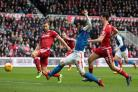 Rovers new boy Tony Watt steers the ball inches past the post in Saturday's 1-1 draw at Middlesbrough