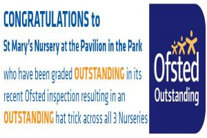 St Mary's Nurseries outstanding Ofsted rating