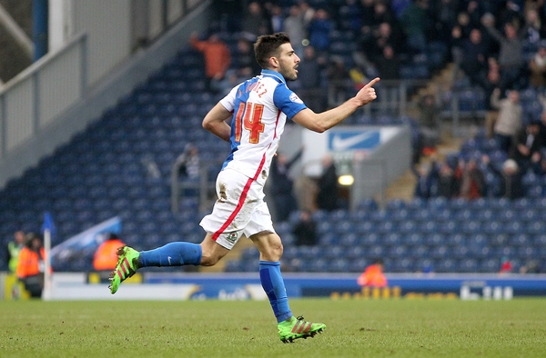 Jordi Gomez races away after winning the game for Rovers. Pictures: CameraSport/Mick Walker