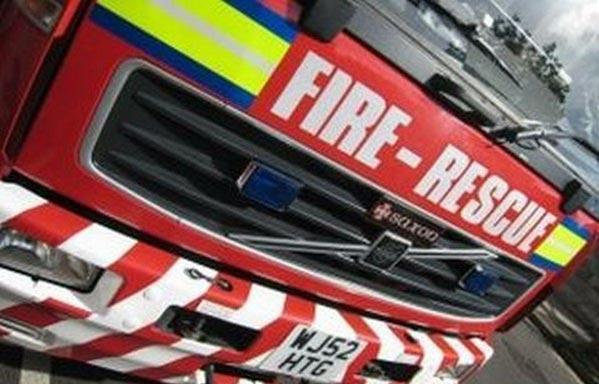 Fire fighters were called to the scene on Burnley Road East