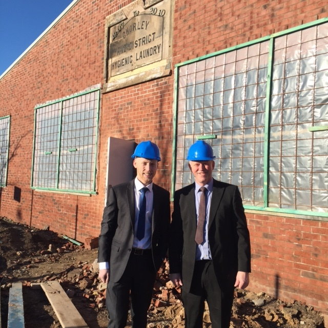 Paul and Vince Bowen at the new units on Botany Brow