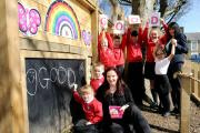 UPGRADE: Staff and pupils at St Mary Magdalen's Primary School, Accrington, celebrate