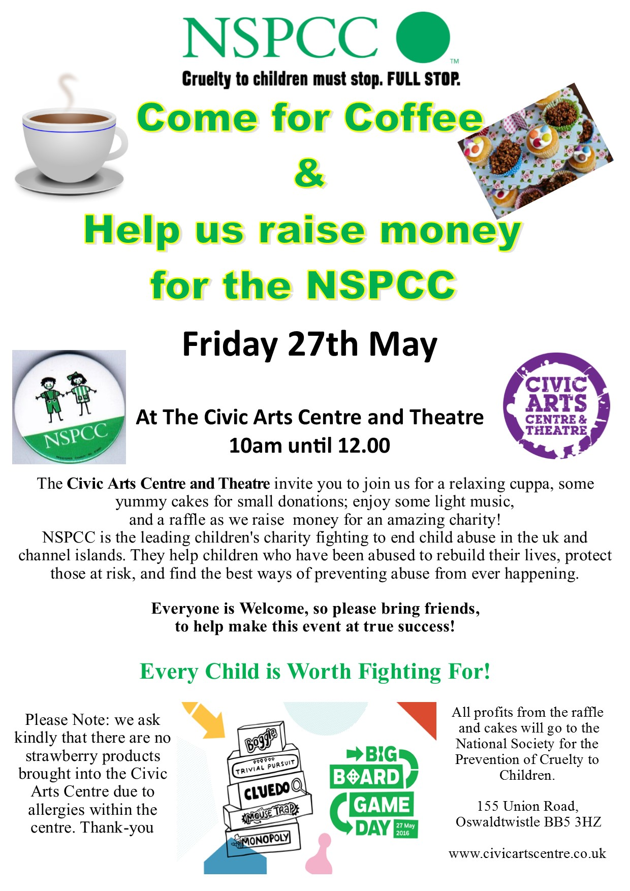 NSPCC Coffee Morning