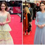 Lancashire Telegraph: Emilia Clarke and Jenna Coleman turn on the glamour for the London premiere of Me Before You