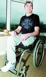 AIR-LIFTED: Robert Field, who was paralysed after a one-ton bale of hay fell on him, will be at the air ambulance fund-raiser and will present a cheque to the service
