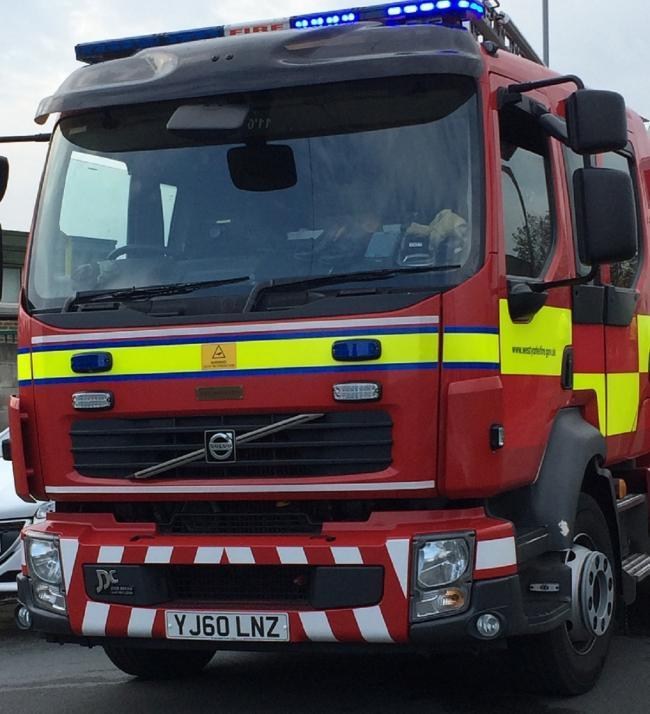 Fire crews tackle tractor blaze