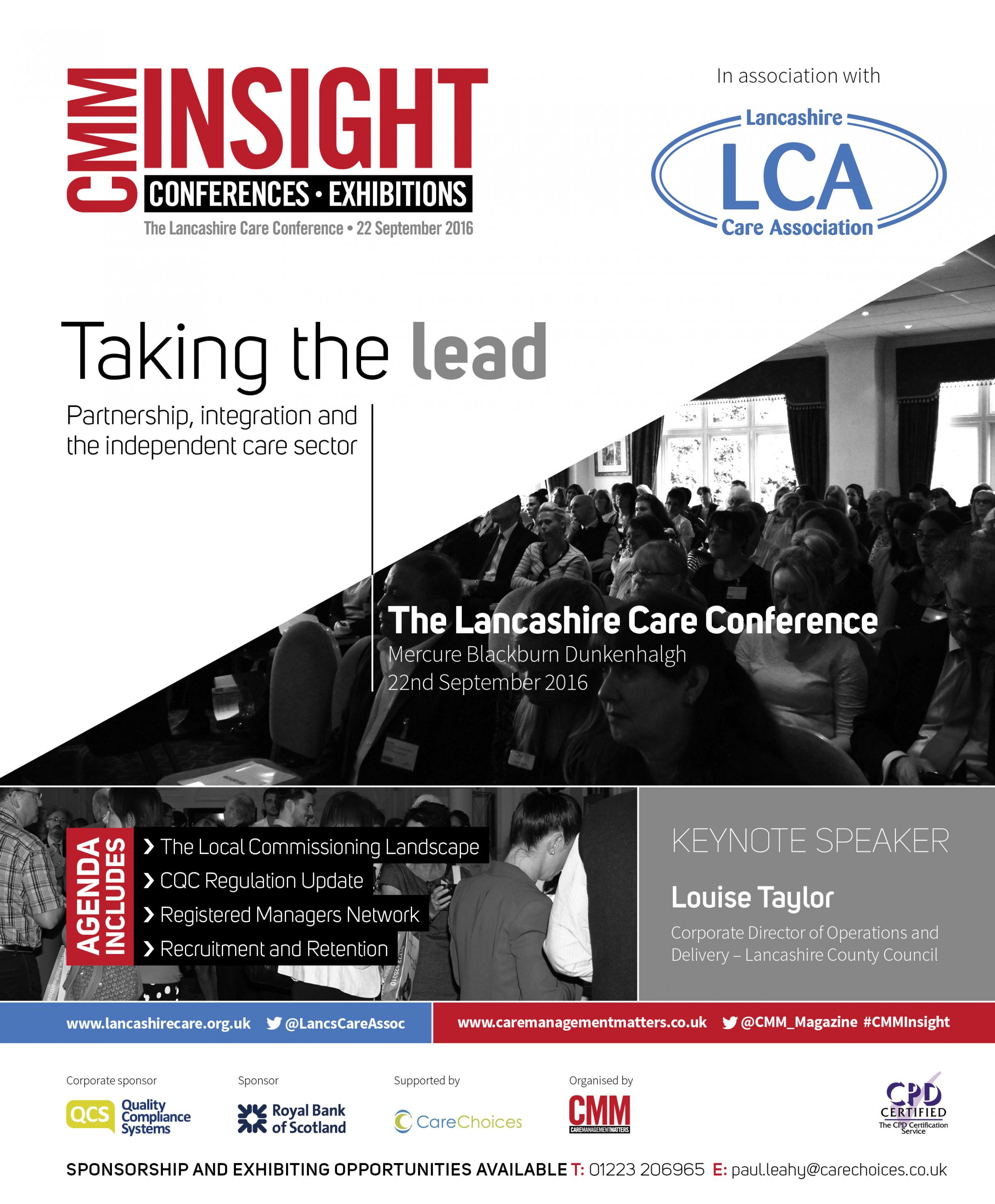Taking the lead: Partnership, integration and the independent care sector