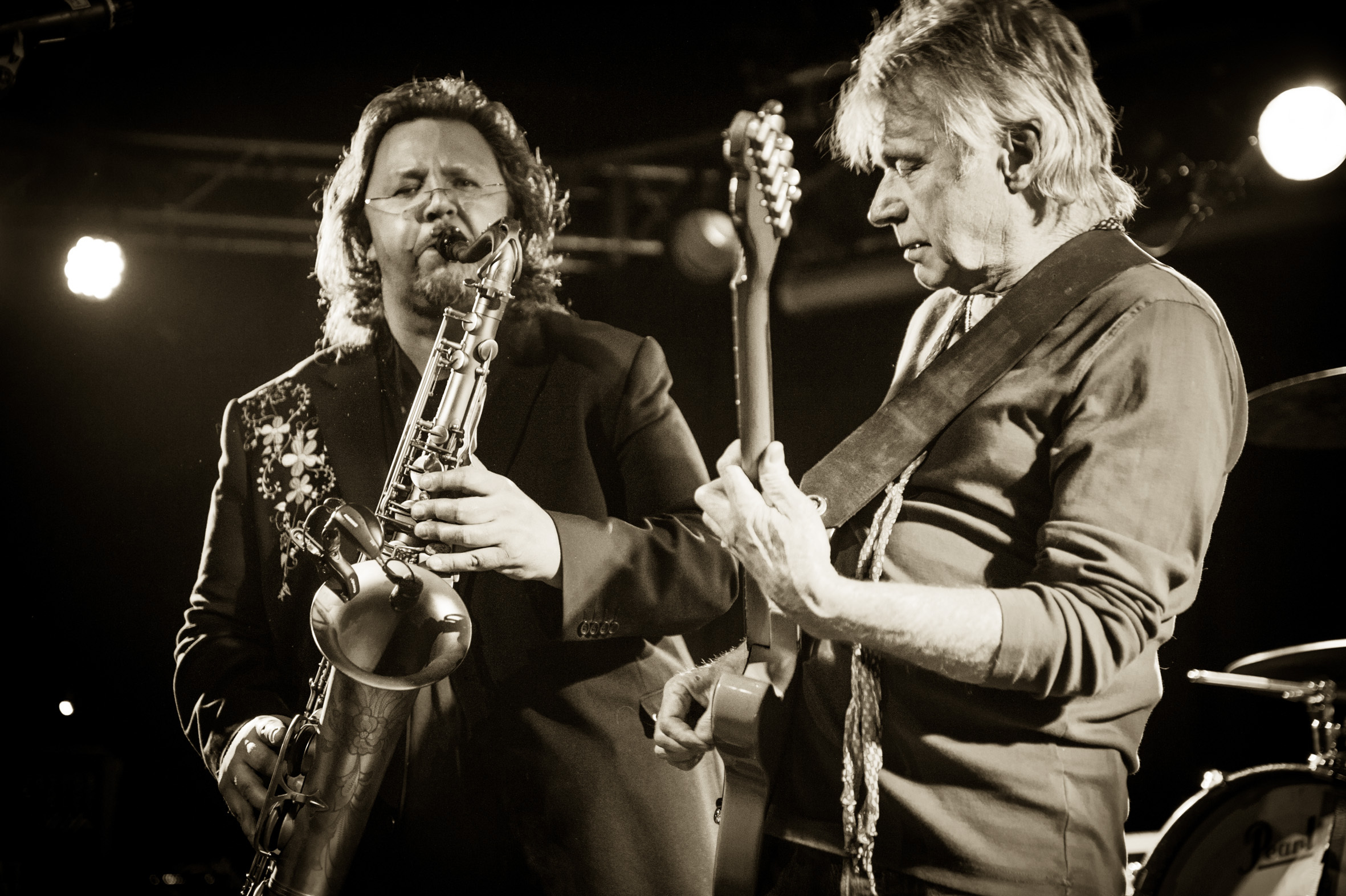 Micke Finell with Dave Edmunds