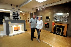FAREWELL: Steve and Jackie Everett are all set to retire from running Canterbury Fireplaces in Blackburn after 30 years