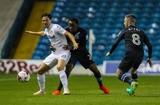 TARGET: Marcus Antonsson in action for Leeds United against Rovers in the EFL Cup last season