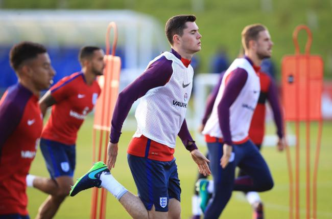 SURREAL: Michael Keane said the 24 hours around his England call-up and meeting up with the squad had been 'surreal'