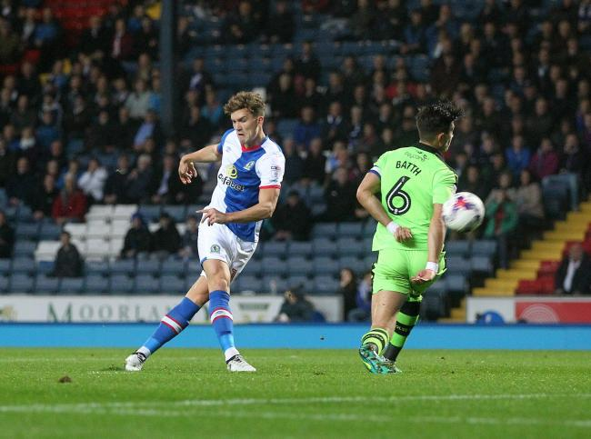 SWEET STRIKE: Gallagher fires home for Rovers