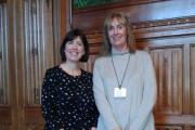 CONCERN: Linda Connelly, right, with Lucy Powell MP, chair of the All Party Parliamentary Group on Maintained Nurseries