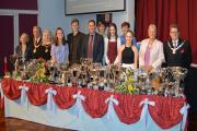 CEREMONY: Guests and pupils at St Augustine's RC High School prize giving night