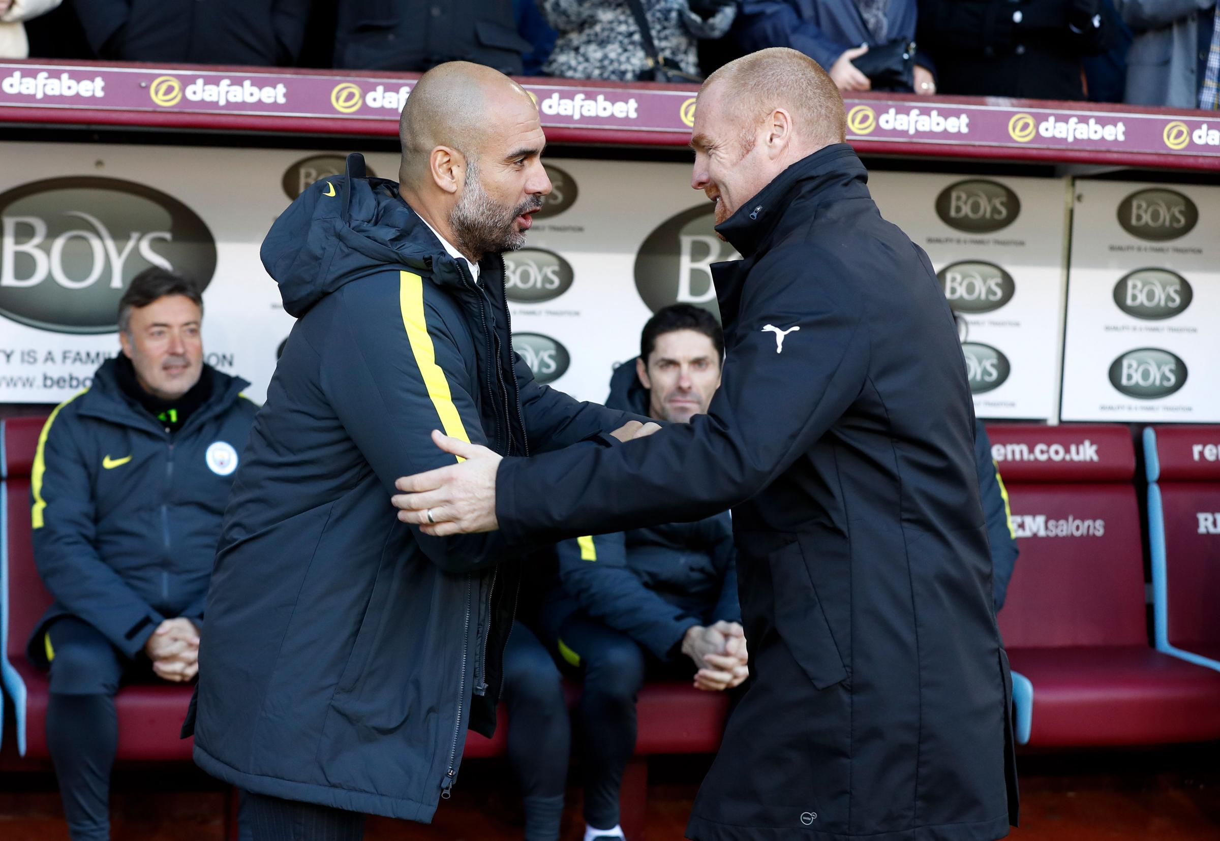 Image result for pep guardiola and sean dyche