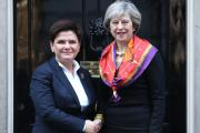 Prime Minister Theresa May (right) welcomes Polish Prime Minister Beata Szydlo to 10 Downing Street