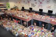 TREMENDOUS EFFORT: Students at Nelson and Colne College who have collected dozens of hampers