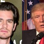 Lancashire Telegraph: Donald Trump needs a kiss to calm down, actor Andrew Garfield says