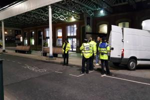 Spot checks carried out at Blackburn Train Station